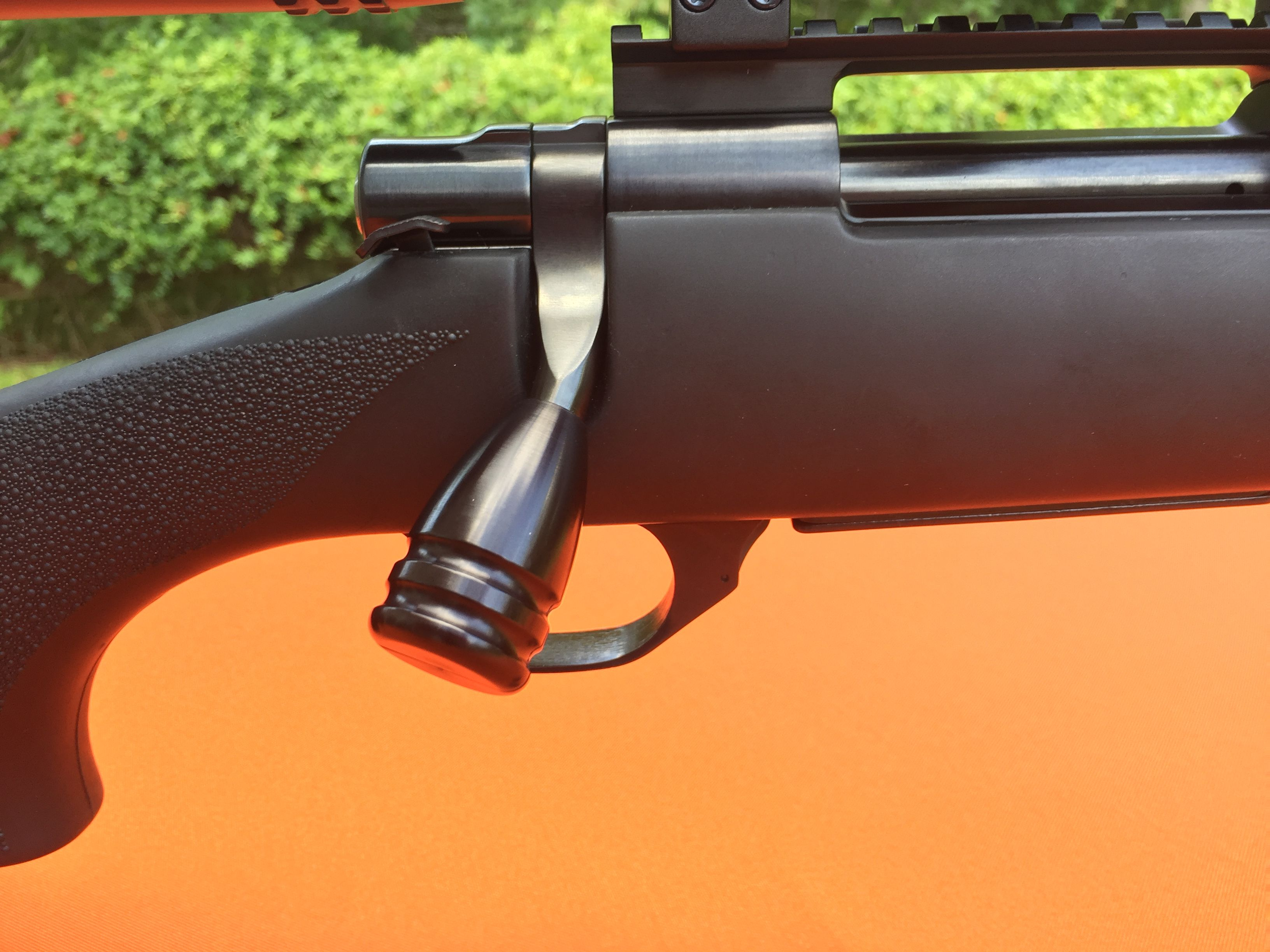 Howa 1500 with a Bolt On Quick Load Knob  Why cut, just Bolt