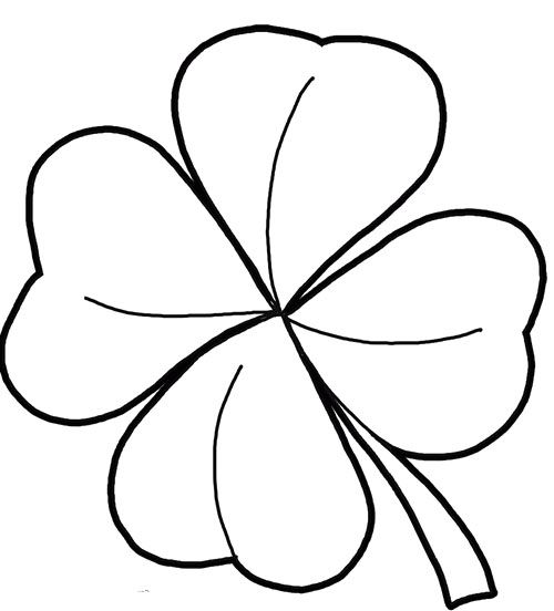 Four Leaf Clover Good Coloring Pages