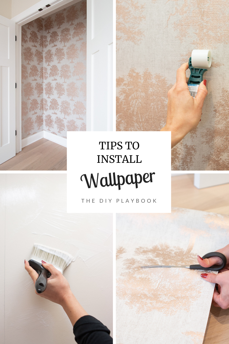 How To Wallpaper A Closet In A Nursery The Diy Playbook Diy Playbook Diy Furniture Projects Work Diy