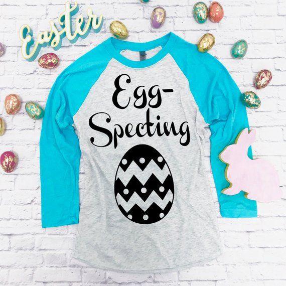 5d1cdafba018d Eggspecting Pregnancy Shirt. Pregnancy Announcement Shirt. Baby Shower Shirt.  Easter Pregnancy Shirt
