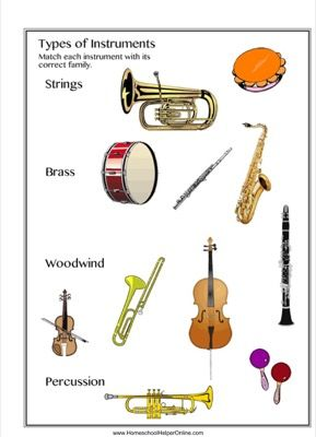instrument families worksheet worksheets percussion and instruments. Black Bedroom Furniture Sets. Home Design Ideas