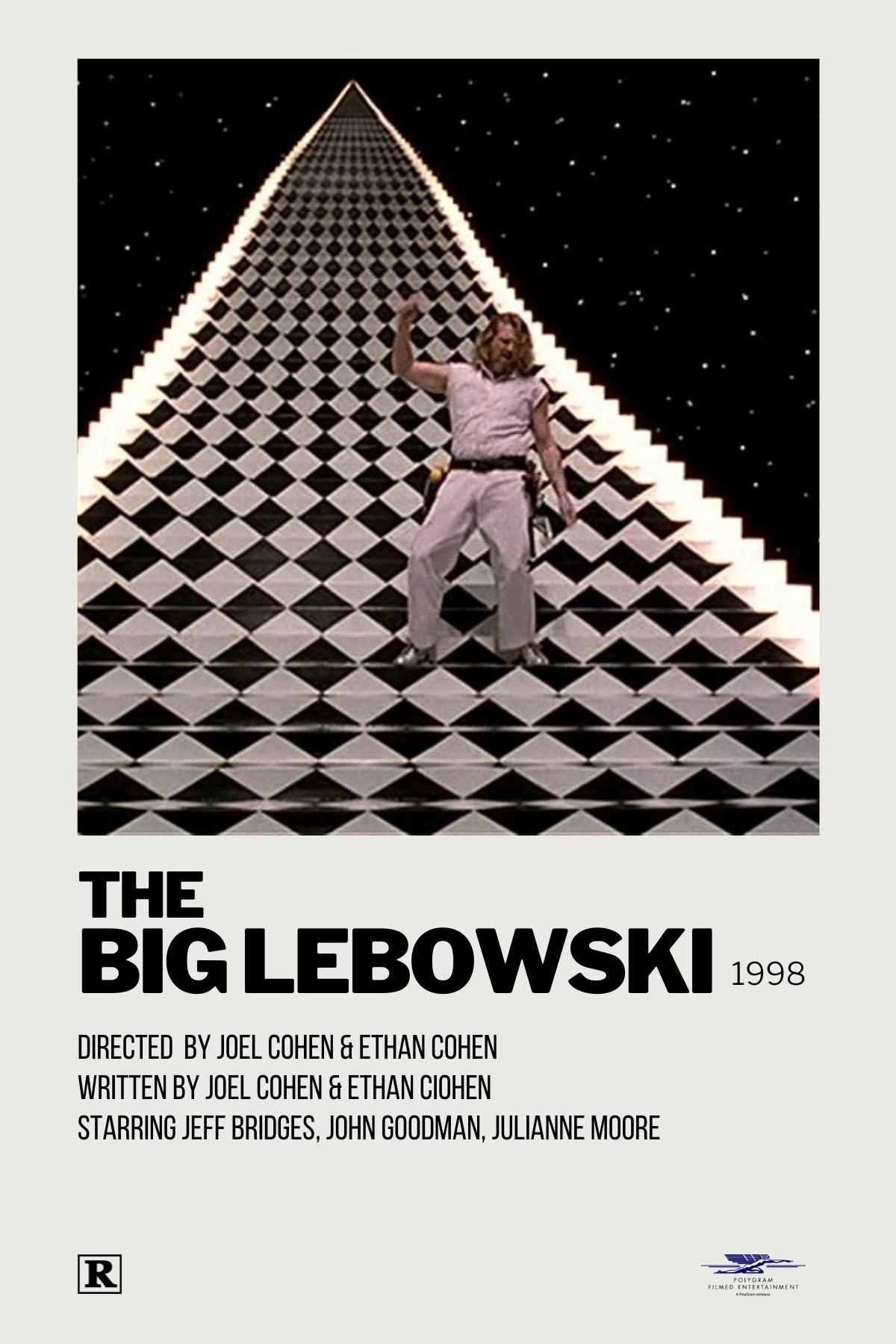 the big lebowski polaroid movie poster