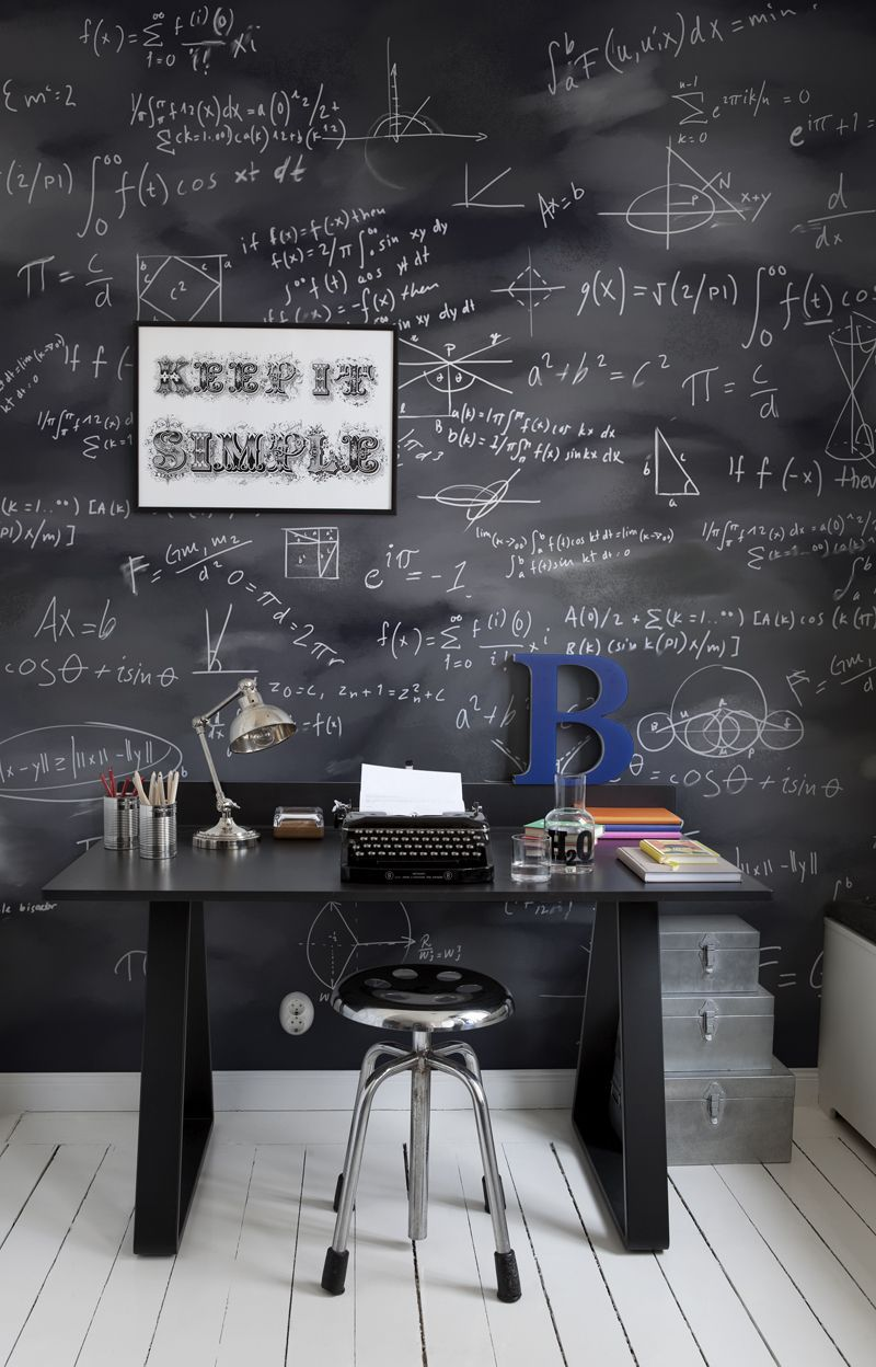 MrPerswall Wallpaper Blackboard With Math Equations Great For A Teenager