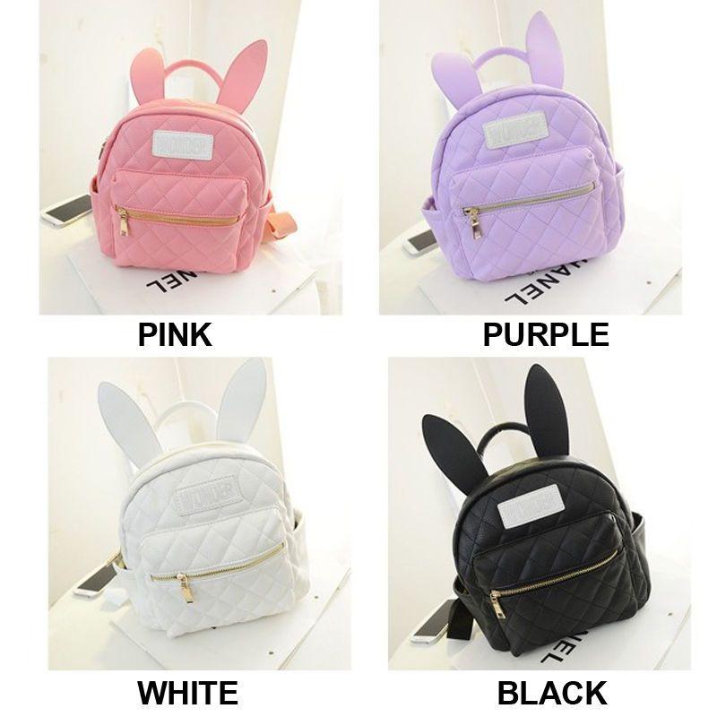 3b2043d3e1ae BUNNY EARS backpack wonderland rabbit pastel cute kawaii harajuku small bag  new   WD  Backpack