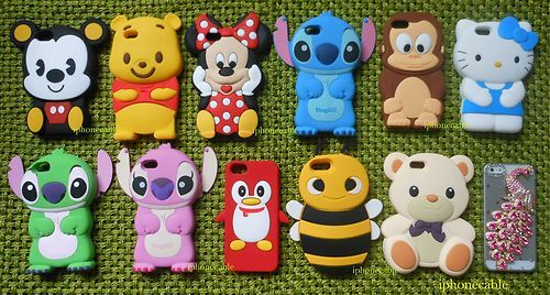 1x 3D Collection Mickey Minnie Stitch Bear Monkey Kitty New iPhone 5 Case Cover | eBay