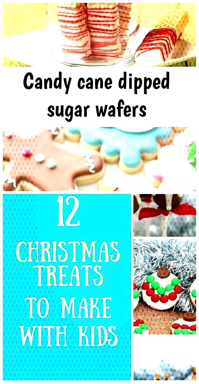 Candy cane dipped sugar wafers Candy cane dipped sugar wafers,