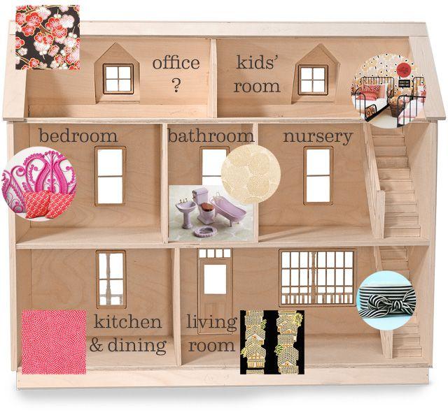 Floorplan For Dollhouse Barbie Doll House Doll House Plans Diy Barbie House