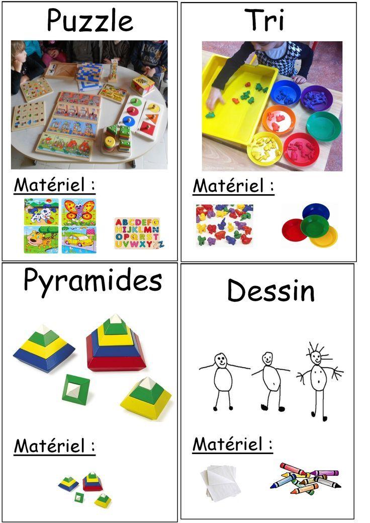 Affiches des ateliers en autonomie | Affichage maternelle ...