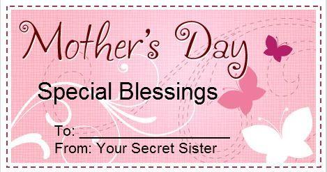 Secret Sister Ideas Mothers Day Secret Sisters Secret Sister Gifts Mothers Day Special