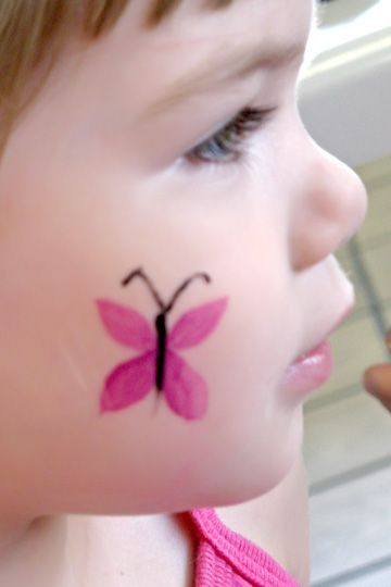 Cheek Face Paint : cheek, paint, Painting, Trish:, Cheek, Painting,, Butterfly, Paint,