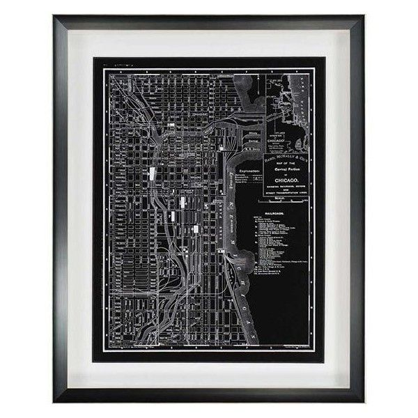 Map Of Chicago 1895 Wall Art From Home Decorators