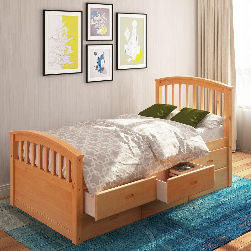Harriet Bee Lowndesboro Twin Platform Bed with Drawers