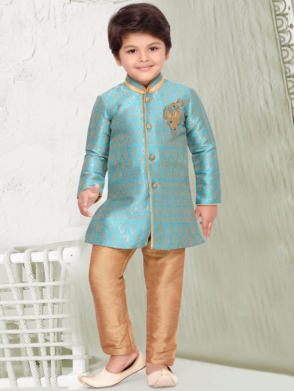 Sky Blue Silk Kurta Suit | Baby | Pinterest | Silk, Indian fashion ...