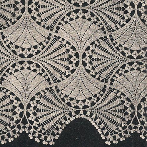 Victorian Fan and Flowers Crochet Bedspread Pattern, Lily Mills No ...