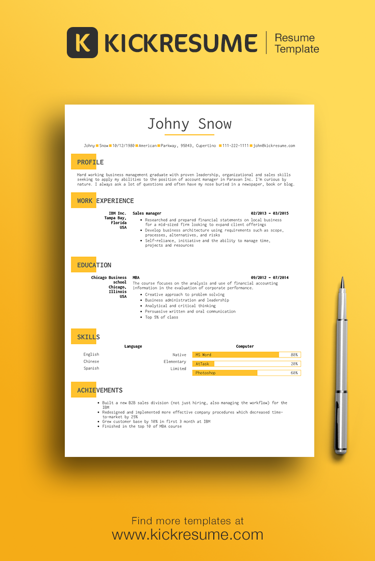 Create perfect minimalistic resume in minutes and get hired faster ...