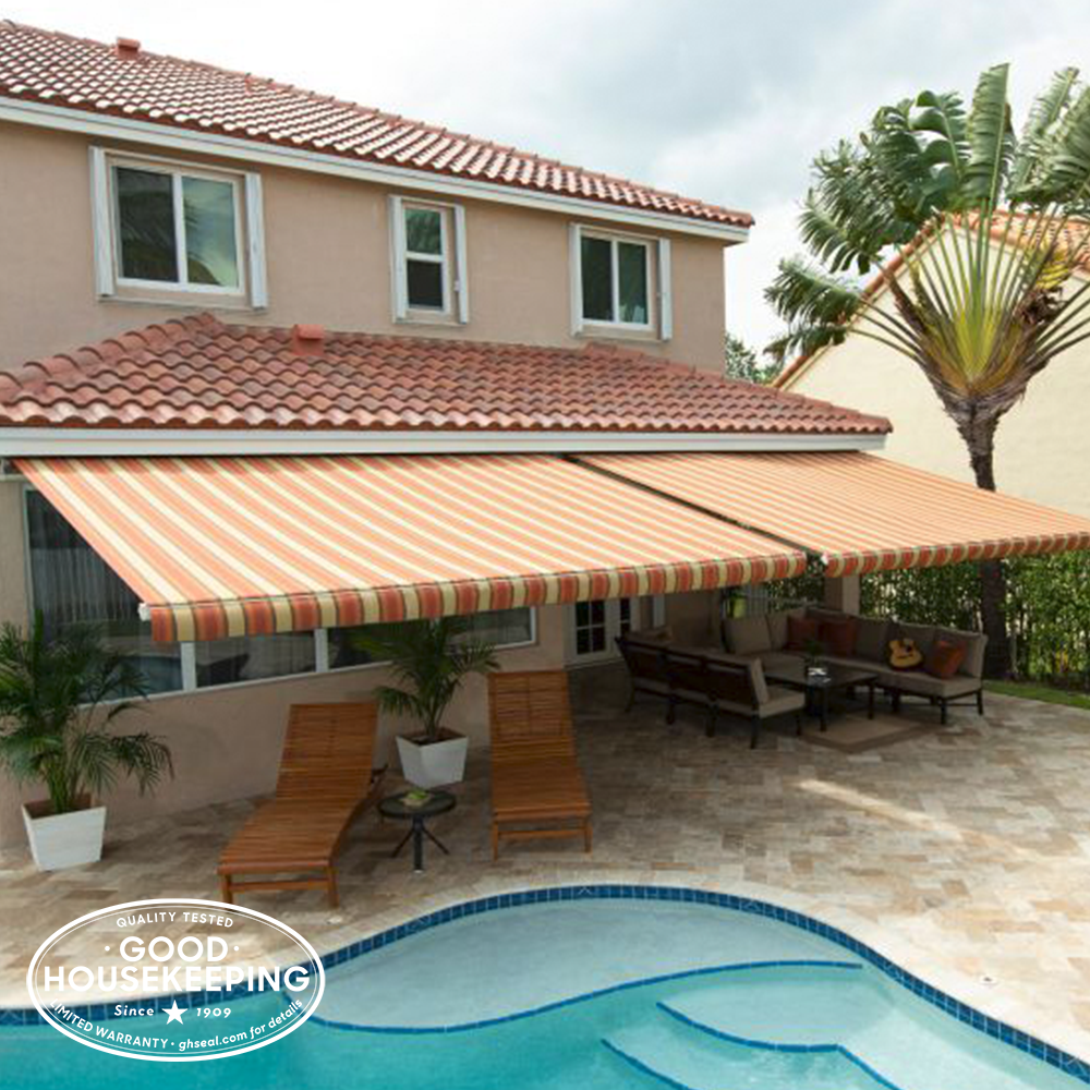 Gh Seal Spotlight Sunsetter Motorized Awnings Awning Outdoor Furniture Decor Home Design Software