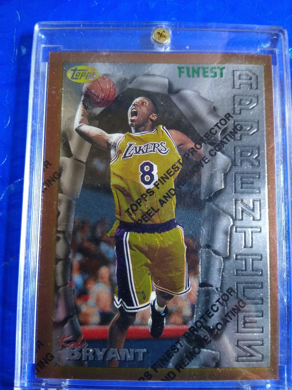 199697 topps finest basketball kobe bryant rookie card