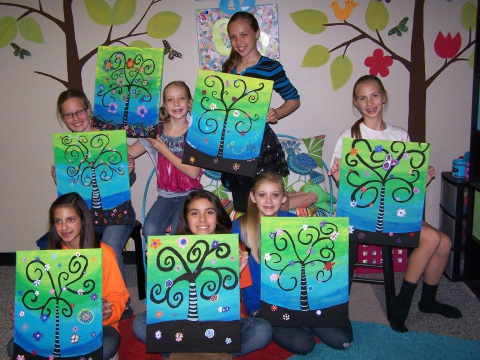 Pictures to paint on canvas for kids for Teaching kids to paint on canvas