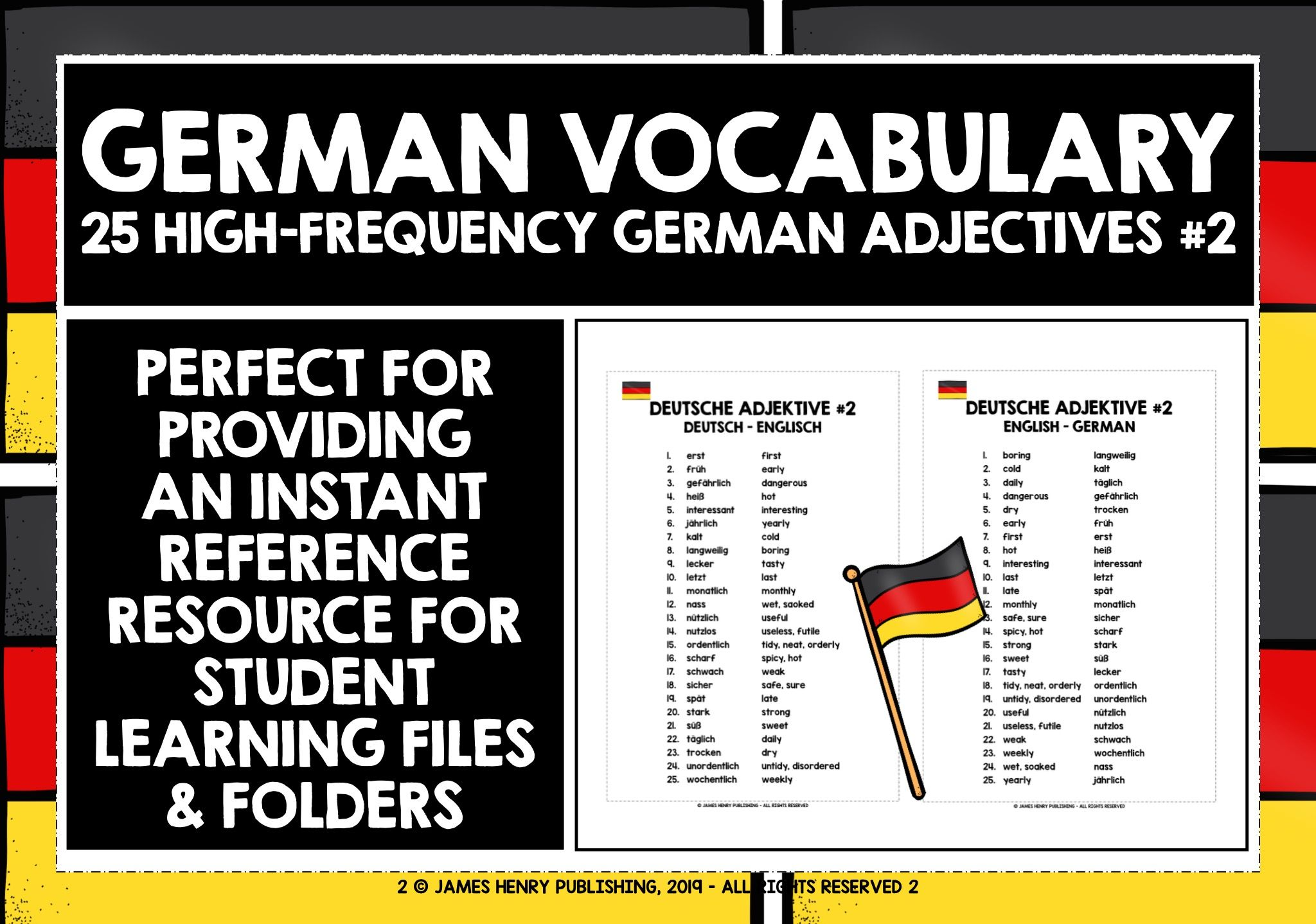 German Adjectives In