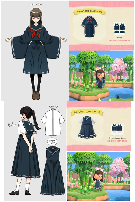 Photo of Dress designs by @haruharu_sunny (twitter). Go follow her! : ACQR