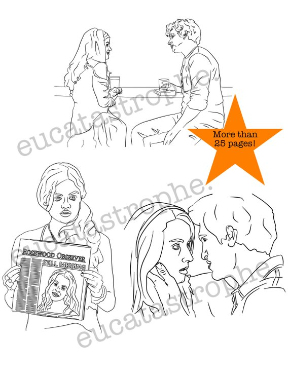 Pretty Little Liars Coloring Book Unofficial Printable Download For Teens And Adults TV Show