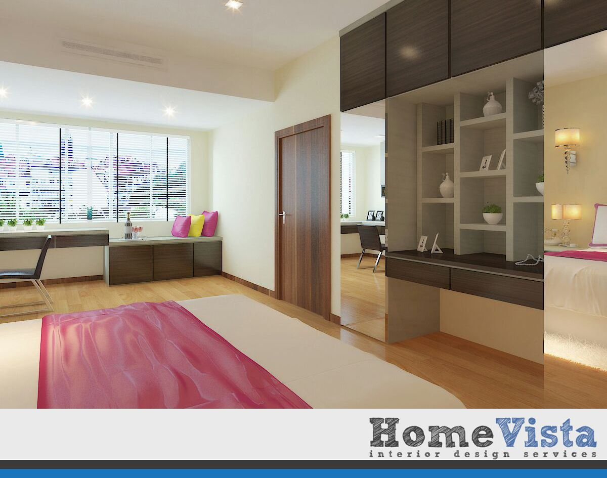 Condo Interior Design - Peach Garden Condo - HomeVista Singapore