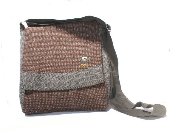 IPad Case/Sleeve/Cover - IPad Messenger Bag - IPad Bag - IPad Padded Bag - Repurposed IPad Bag