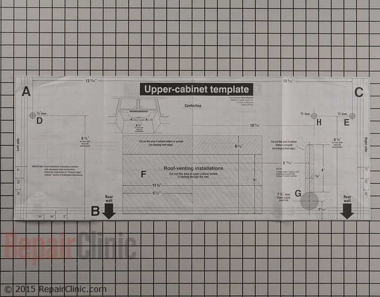 microwave template w10188240 fast