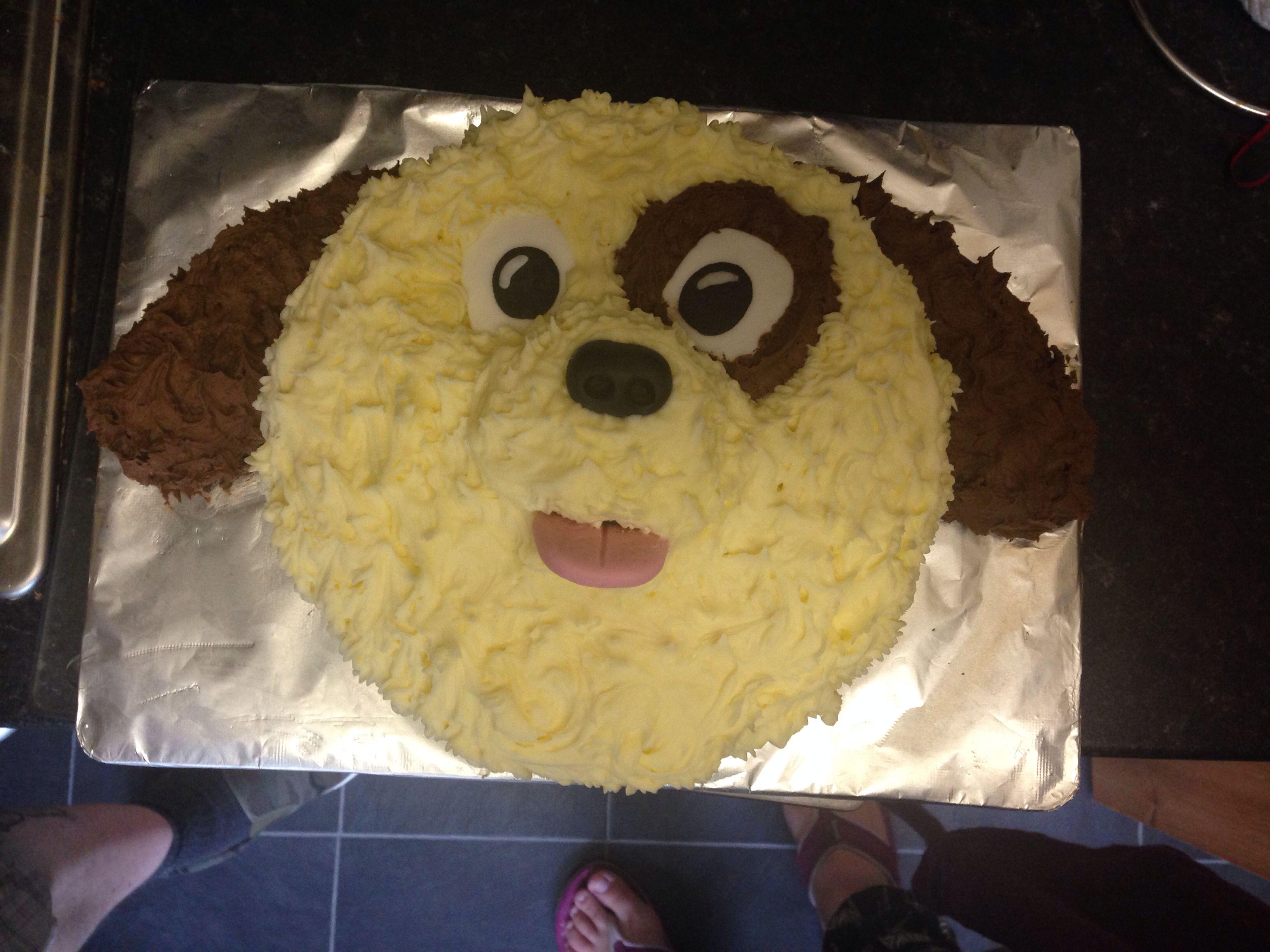 Birthday Cake I Made Buttercream Dog Face Things I Have Baked