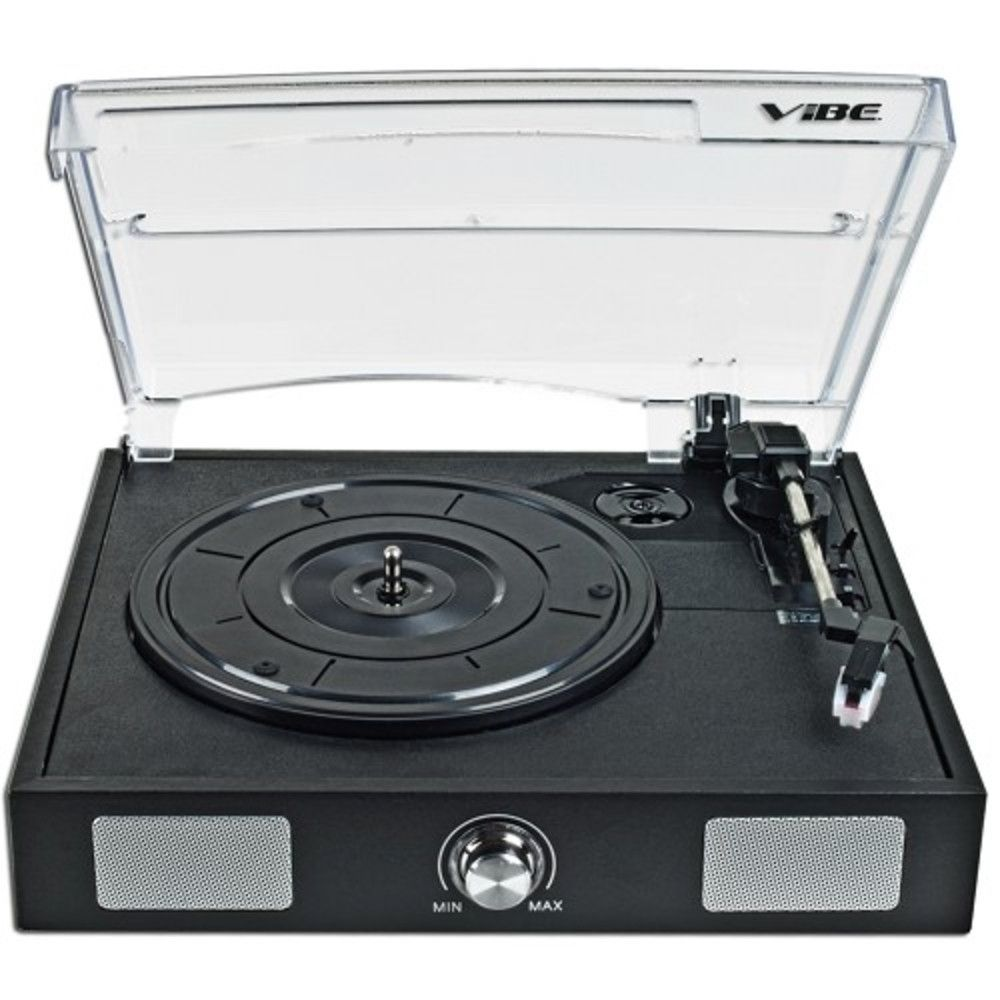 VIBE Sound VS-2002-SPK USB Turntable/Vinyl Archiver w/Built-in Speakers - Rip Your Old Vinyl to MP3!