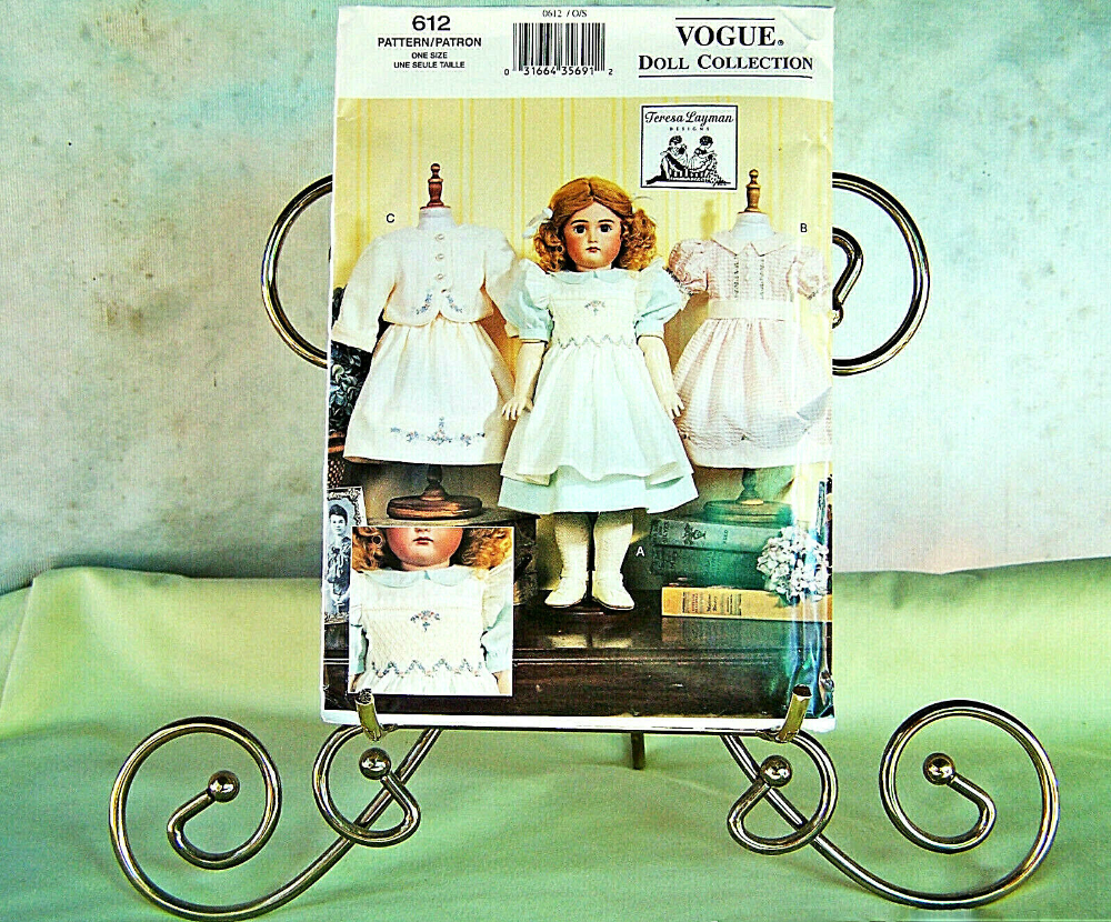 Details about VOGUE DOLL COLLECTION #612 TERESA LAYMAN DESIGN 18 HEIRLOOM DOLL CLOTHES UNCUT #historicaldollclothes