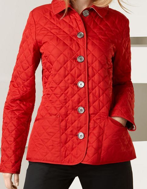 Burberry Brit Westbury Diamond Quilted Jacket Red Fall