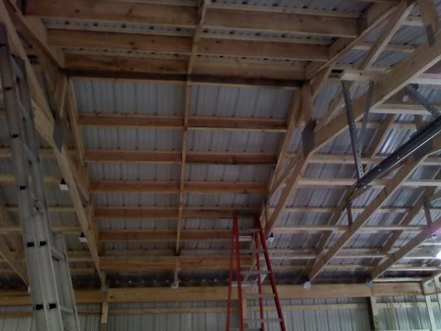 Pole barn insulation and inside finishing the garage for 30x40 shop with loft