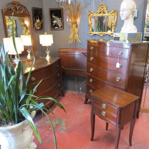 $850/set. Vintage Antique Mahogany Three Piece Bedroom Set C. 1940.  Beautiful Mahogany Bedroom Set U2013 Chest Of Drawers, Full Size Headboard, And  Nightstand. ...