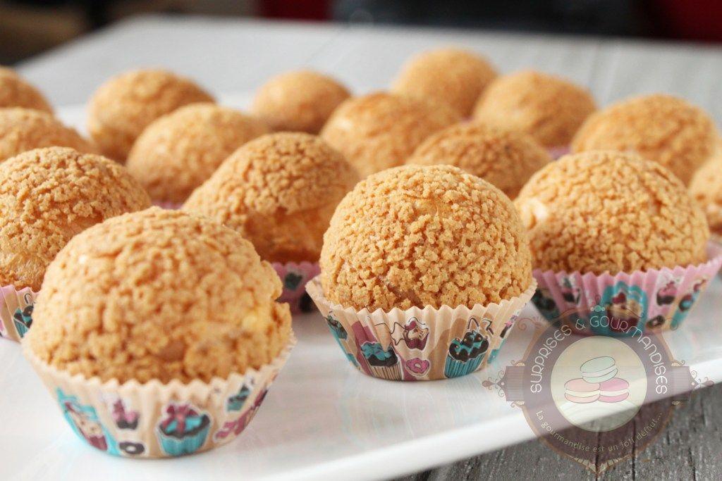 Choux craquelin à la vanille - Surprises et gourmandises Recette cupcake