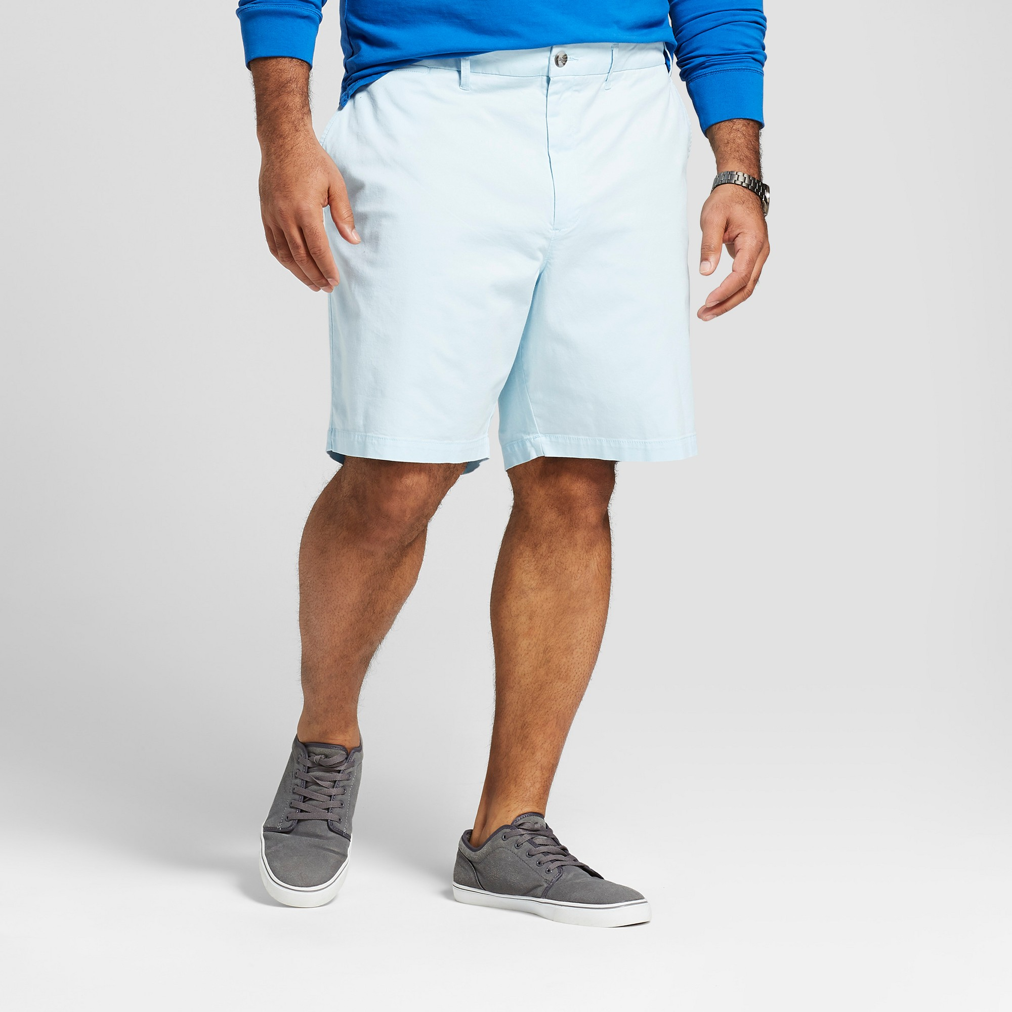 5adc36c0a0 Men's Big & Tall 10.5 Linden Flat Front Shorts - Goodfellow & Co Feather  Aqua 60, Blue