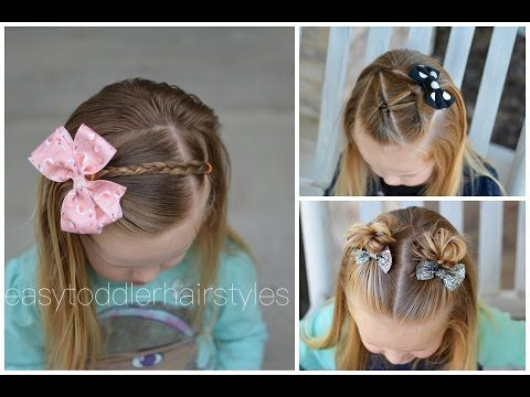 Toddler Hairstyles Adorable 3 Quick And Easy Toddler Hairstyles For Beginners  Youtube  Kid