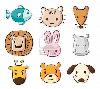 Stock Vector Cute Cartoon Animals Cute Cartoon Pictures Animal