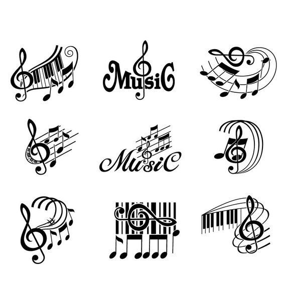 Music svg, Musical Notes svg, Treble Clef svg, Musical staff svg