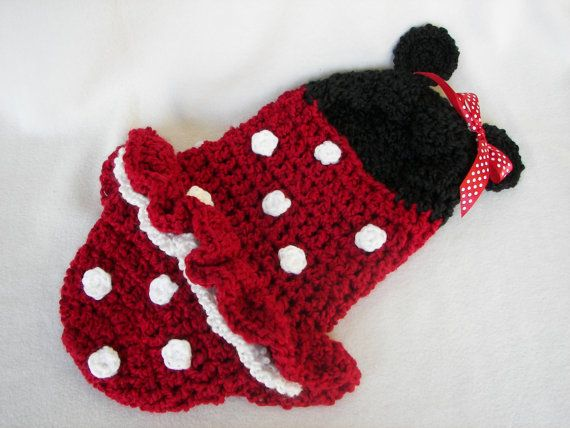 Cocoon, Hooded, Minnie Mouse, Newborn, Halloween Costume, Photography Prop on Etsy, $48.00