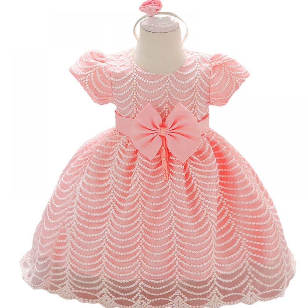 Nouvelle belle dentelle robe de bébé fille fête princesse baptême mariage Enfants Vêtements