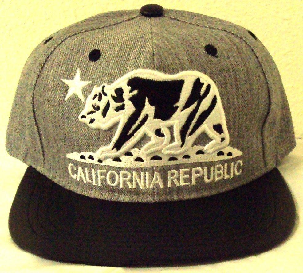 Beige California Republic hat cap CALI Mesh Snapback Faux Leather Baseball cap