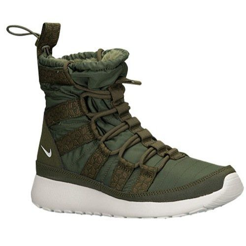 new product b55aa 49e82 Womens Nike Roshe Run HI Sneakerboot 105 Rough GreenSail ...