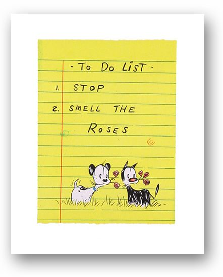 "PATRICK MCDONNELL /""TO DO LIST/"" Hand Signed Limited Edition Lithograph Art"
