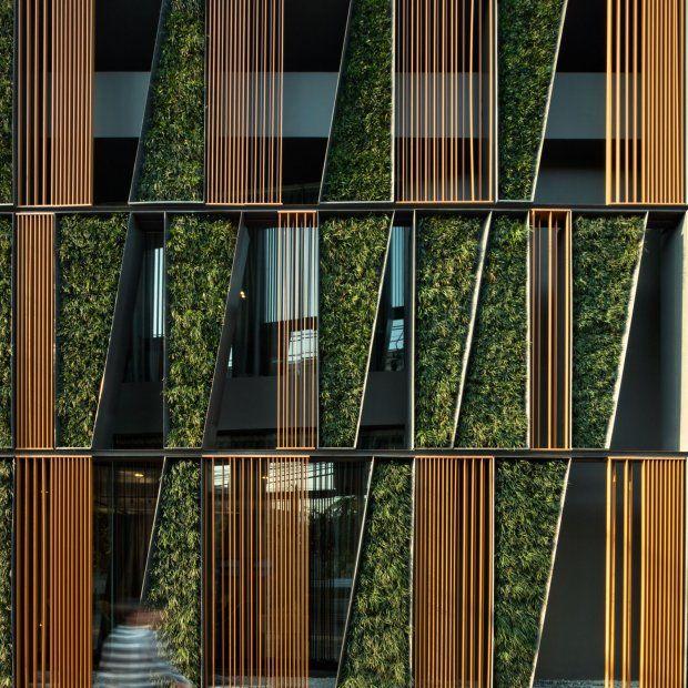 Vertical Garden Dezeen Architecture Green Wall Design Facade