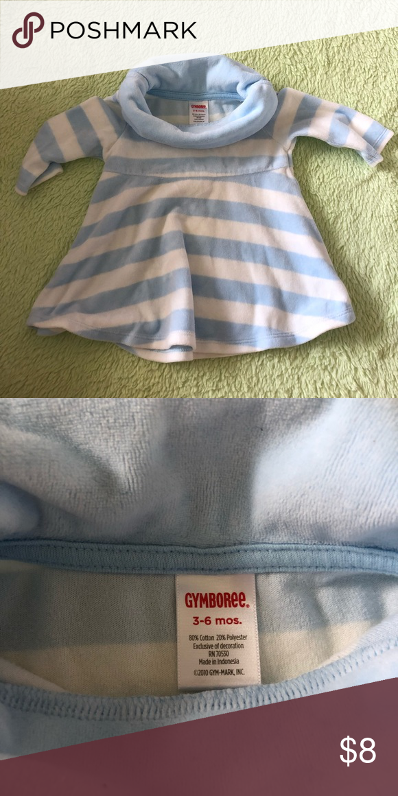 f3c0c18180389 Gymboree Velour Baby Girl Top Gymboree Baby Girl cowl neck velour striped  dress (top). Great with tights or leggings! Gymboree Shirts & Tops
