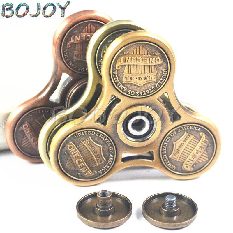 HAND Spinner Fidget Toys Brass EDC finger spinner Cent Decorate Fidget Spinner