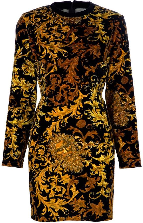 f16d9ecce3 VERSACE VINTAGE BROCADE SHIFT DRESS  1