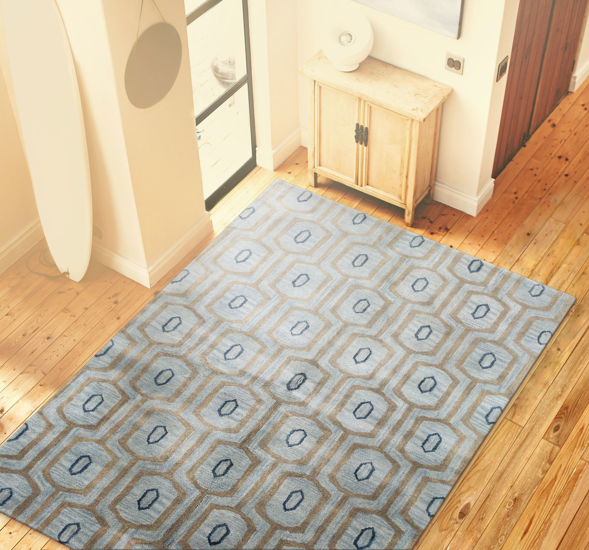 Ashland Light Blue Area Rug