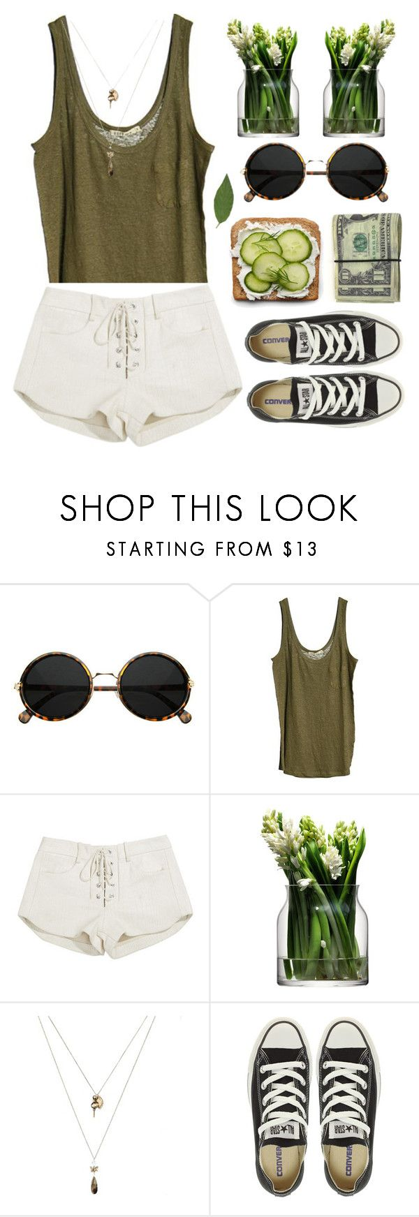 """""""That day..."""" by triciaarante ❤ liked on Polyvore featuring Loft Design By..., Mlle Mademoiselle, LSA International, Orelia and Converse"""
